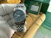 LADIES Rolex Datejust Plain Black Dial Stainless Steel
