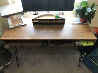 Office Desk - Dark Wood Effect