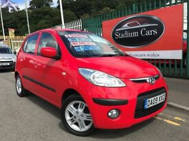 2009 (09 reg) Hyundai i10 1.2 Comfort 5dr Hatchback Petrol 5 Speed Manual Low Miles