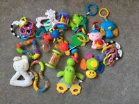 Bundle of baby first toys.
