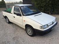 Rare Skoda Felicia pickup 1.3 petrol long MOT has Mk2 GTI 16v Alloys like the VW caddy pick up
