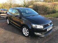 2014 VW POLO BLACK MATCH 1.2 PETROL 1YEAR MOT,CAT D LOW MILEAGE 26000 IMMACULATE CONDITION