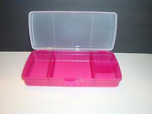 tupperware lunchn things divided lunch container on the go pink bpa free new. Black Bedroom Furniture Sets. Home Design Ideas