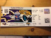 NFL Tickets. Sunday 24th September. Ravens vs Jaguars. Wembley Stadium
