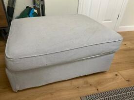 IKEA Kivik Storage Footstool in Grey