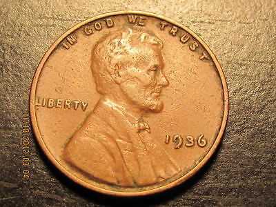 1936 P LINCOLN WHEAT CENT    SOLID ALBUM FILLER COIN