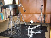 Drum kit Arbiter Flats Lite kit including stool and drum dampeners and 2 carry/storage bags