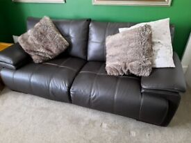 FREE ***Brown Leather Couch*** Free