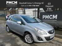 VAUXHALL CORSA 2013 1.2 ENERGY AC - ONE OWNER FROM NEW - F.S.H - fiesta clio polo (silver) 2013
