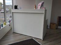Brand new white reception desk