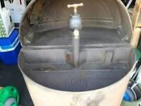 Old oil drum
