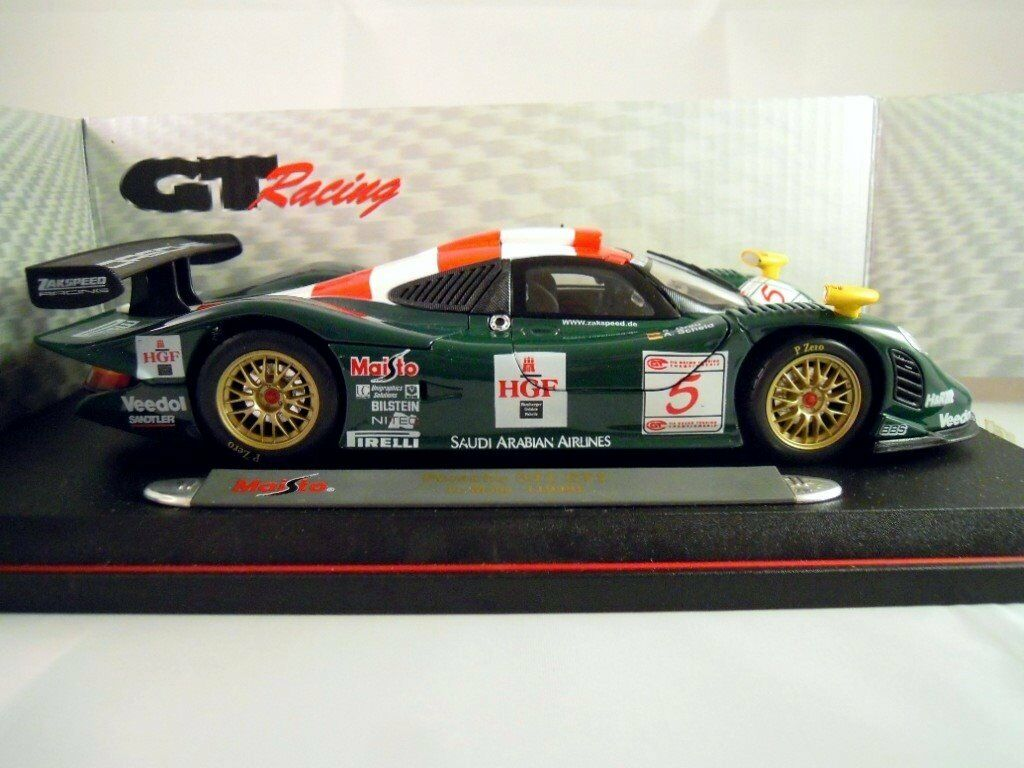 maisto diecast porsche 911 gt1 le mans zakspeed gt racing car 1 18 scale mib. Black Bedroom Furniture Sets. Home Design Ideas