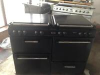 Stoves black range gas cooker and electric ovens 110cm