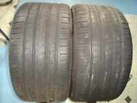 TYRES...TWO PIRELLI PART WORN.. 295-35-18
