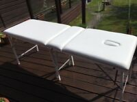 Mobile beauty treatment bed comes with bag slight little nik in it but otherwise good condition