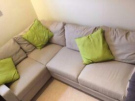 Hygena Seattle Left Hand Corner Sofa Bed