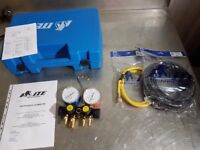 Brand NEW ITE 4 Valve Manifold 212P14 with Charging Lines + CASE + Calibration