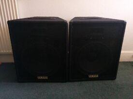 Yamaha SV15 PA Speakers (pair). 8ohm - 200w program/400w max. Good condition.