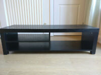 Black wood effect TV stand