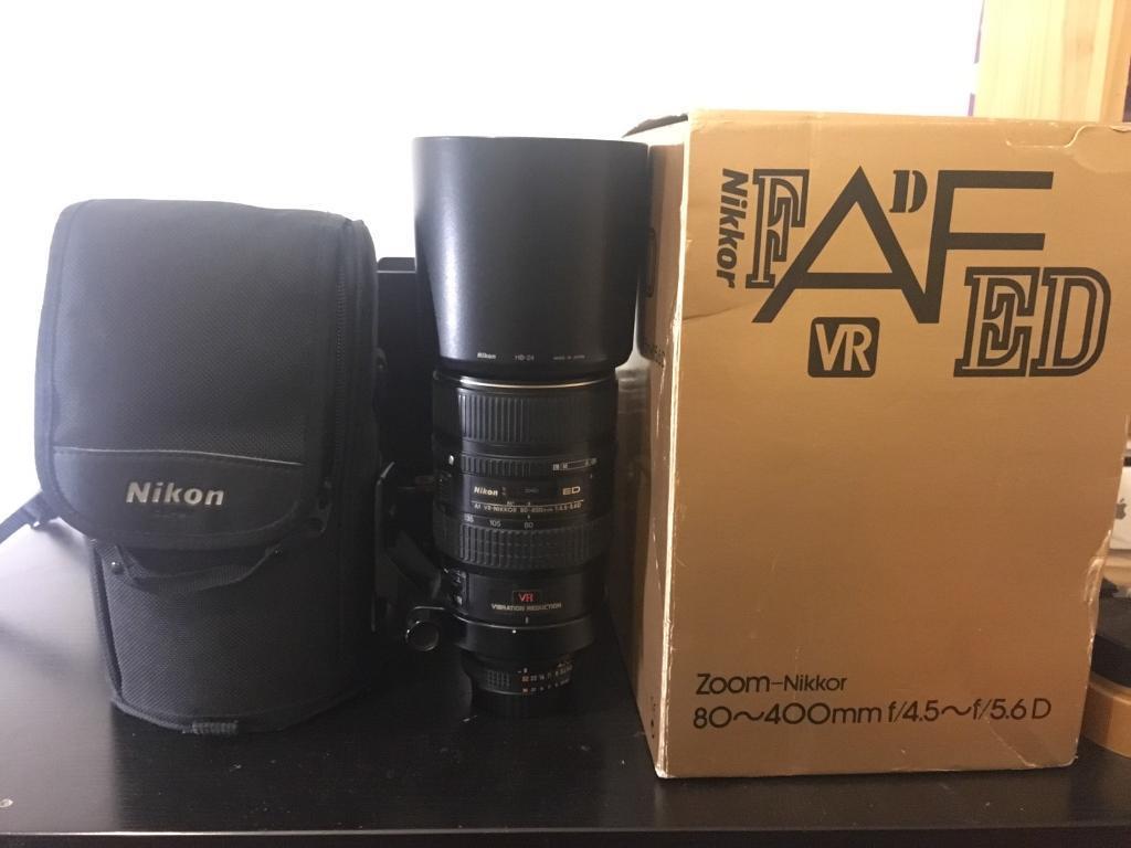 nikon af 80-400mm f4.5-f5.6d vr lens