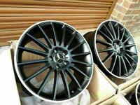 """Mercedes AMG 19"""" inch single Alloy Wheel c class w204 2007- 2014 C63 Turbine black REAR BACK rim for sale  Stratford, London"""