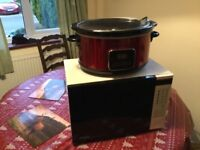Microwave and slow cooker free for collection