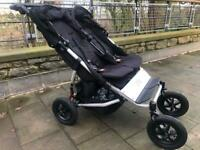 Mountain Buggy Duet V3 double twin buggy plus carrycot and storm cover