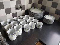 Royal Norfolk Mugs, Tea cups, Saucer/Small Plate, and Large plate. Total 41 Piece set.