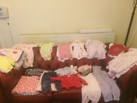 Huge Bundle of Girls 3-6 months Clothes - 64 items