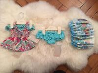 Monsoon baby girl swim wear, 0-3 months. Brand new with tags