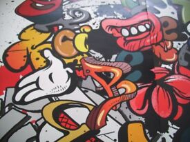 PhotoWall Mural, Graffiti Elements, New – Unused, suit Kids or Adults