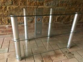 Fantastic clear glass TV stand