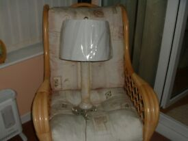 ONYX MARBLE.TABLE/ LAMP BRAND NEW