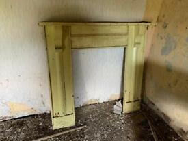 Early 20th century wooden mantle piece