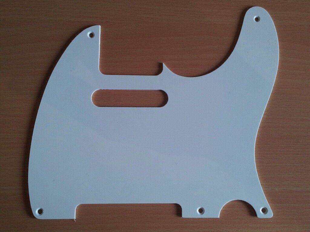 Fender Telecaster Pickguard 52 58 50s 5 Hole Parchment Aged White