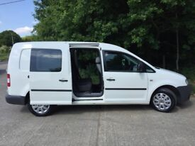 Vw caddy maxi c20 tdi 104bhp 5 seater crew van