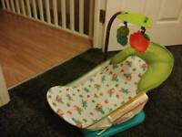 Bath chair with toys and mirror!