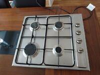 4 x Gas Burner Cooker Hob - Stainless Steel