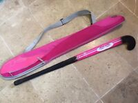 Mercian Swordfish 35'' Pink hockey stick with case
