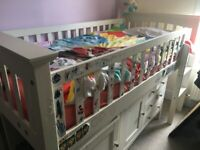 Kids Bed With Matress , Draws and Desk