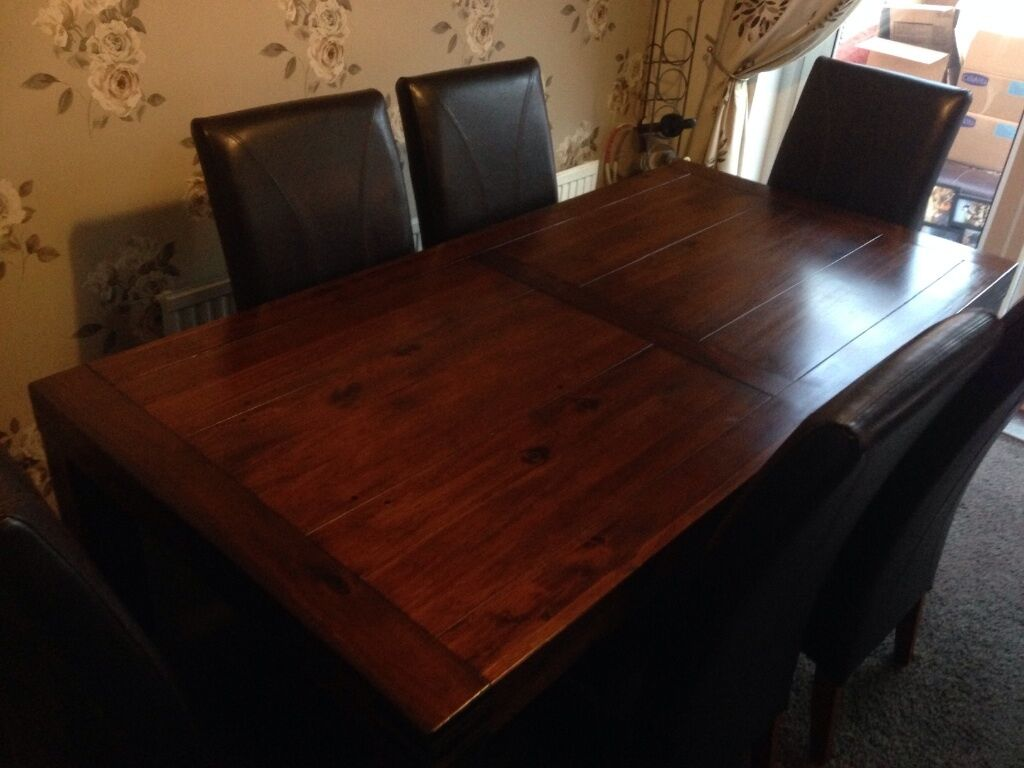 DFS DINING ROOM TABLE AND SIX CHAIRS | in Heanor, Derbyshire | Gumtree