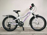 "FREE Lights with (2645) 20"" Lightweight Aluminium UNIBIKE GIRLS BIKE BICYCLE Age: 6-8, 117-132 cm"