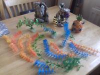Fish tank ornaments.