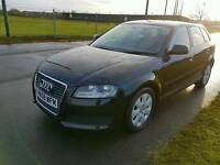 2009 Facelift Audi A3 E 1.9 TDI Sportback Manual Black Cheap Bargain!!! Px Swap!