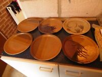 earthenware plates