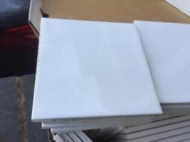 99 off White tiles 95mmx95mm square