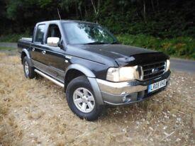 Ford Ranger Thunder 2.5 TD 4x4 2005 7 Mths MOT Excellent One Owner Work Truck VGC