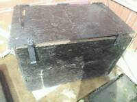 Wooden lockable storage box free to collect