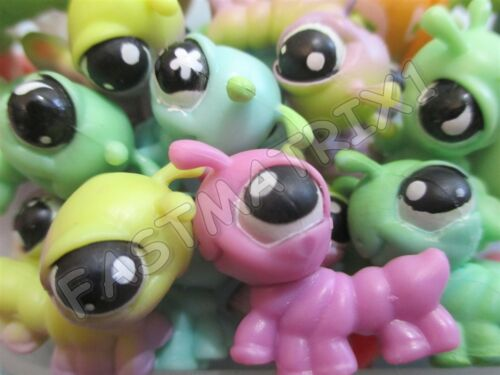 Littlest Pet Shop Lot 2 Random Mini Cute Baby Caterpillar Inchworm with initial