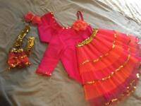 Home Made dancing costume and accessories.